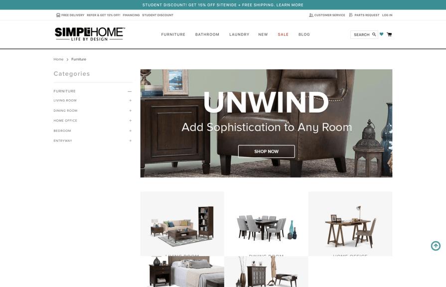 Simpli Home Shopify Plus Development