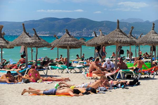 strand von arenal an der playa de palma