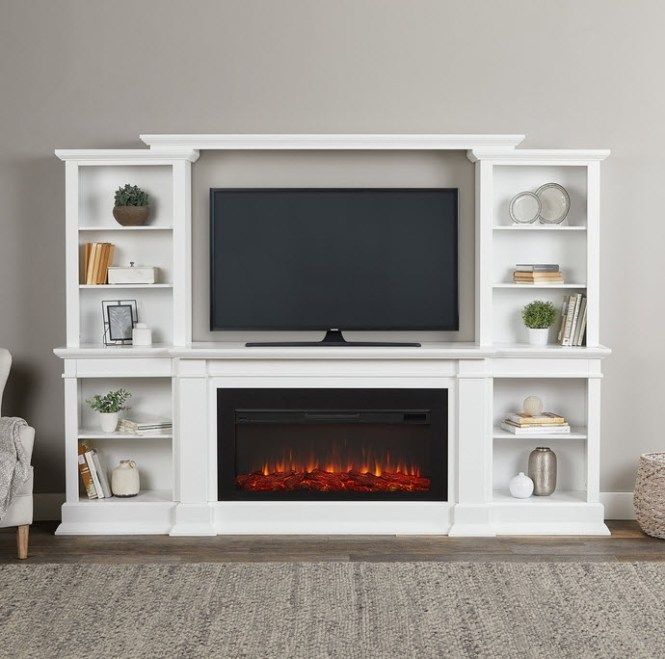 Amish Electric Fireplace Entertainment Center | Bruin Blog