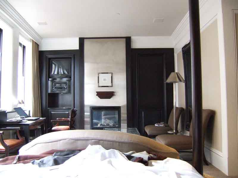 Master Bedroom With Electric Fireplace