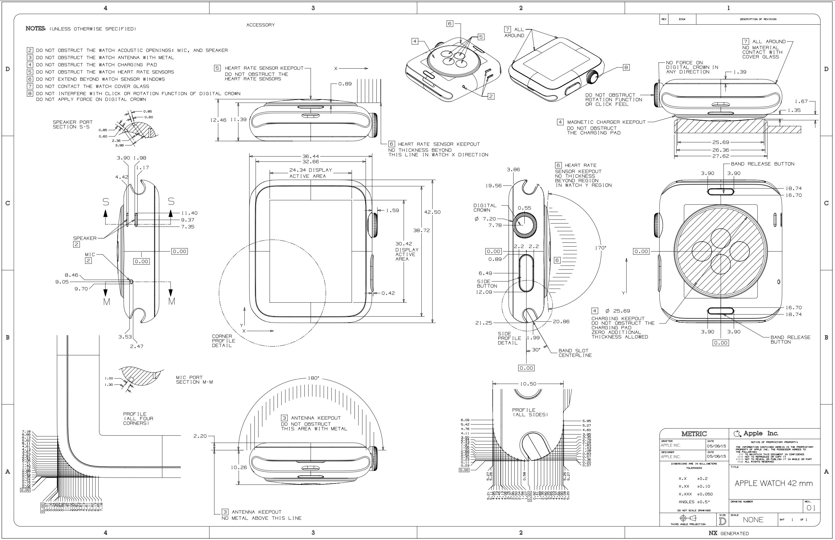 Apple Releases Watch S Cad Drawings To The Public