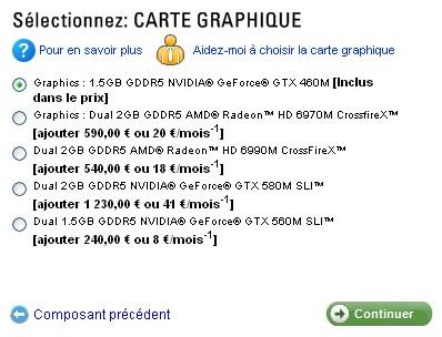 Configuration GPU Alienware M18x