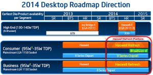 Broadwell-K reste donc prévu pour fin 2014. Toujours en LGA 1150, il est prévu sur un nouveau chipset