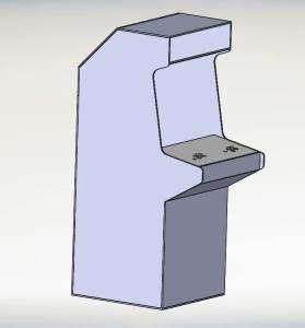 une modélisation 3D du panel et de la borne peut être très utile.
