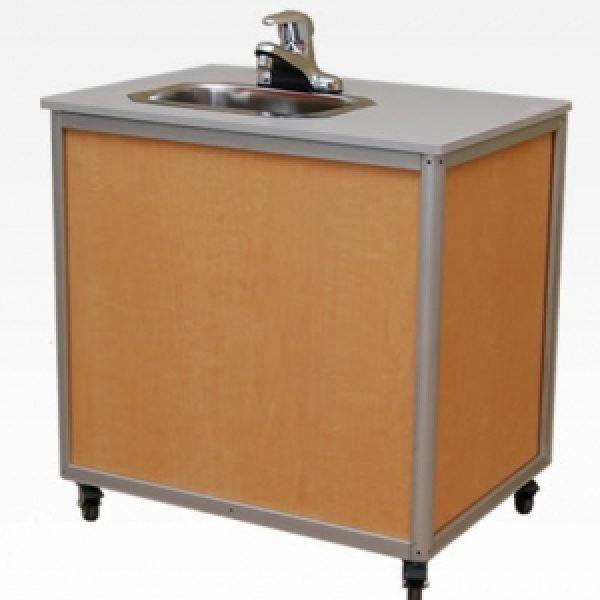 monsam child height single basin portable sink 22 h