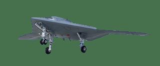 Le drone X-47b à bord d'un porte-avion de l'US NAVY