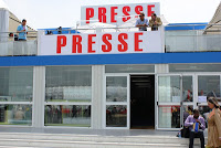 En direct du Bourget: visite des coulisses, le coin presse