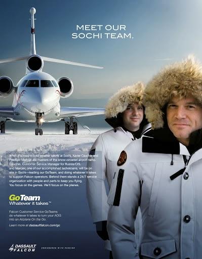 Dassault se prépare aux jeux de socthi et... Au superbowl