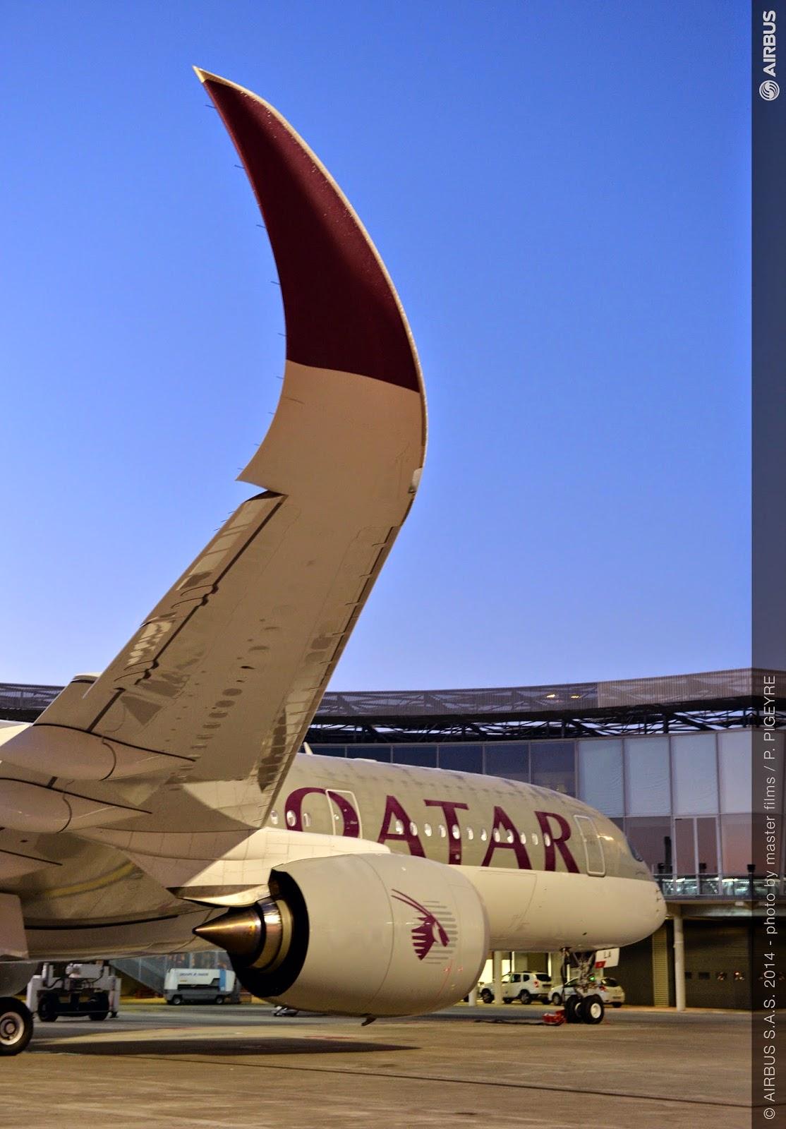 Airbus livre son tout premier A350 XWB à Qatar Airways