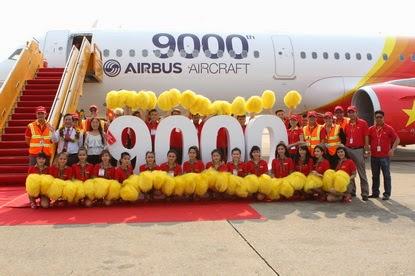 Airbus célèbre son 9000ème avion livré