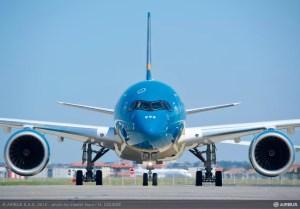 L'A350 aux couleurs de Vietnam Airlines