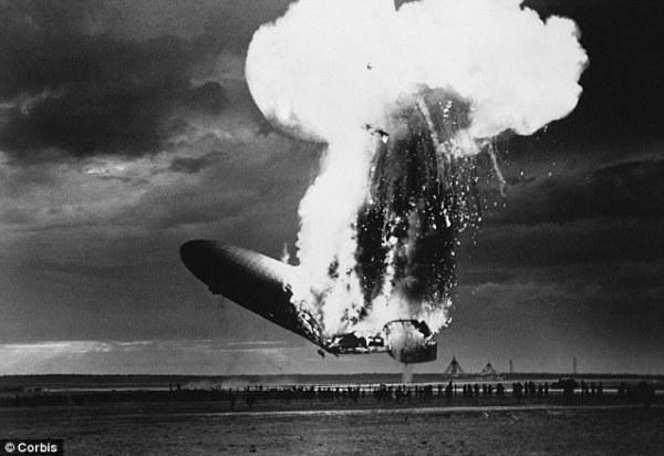 Crash de l'Hindenburg, Crédit : Corbis