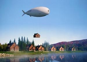 Vue d'artiste du LCA60T, Crédti : FLYING WHALES