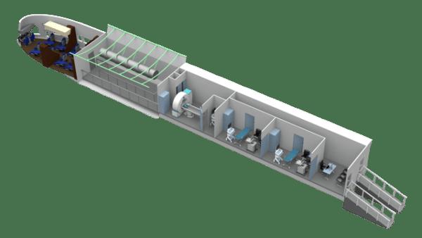 Cabine du LMH-1 en configuration humanitaire, Crédit: SLA