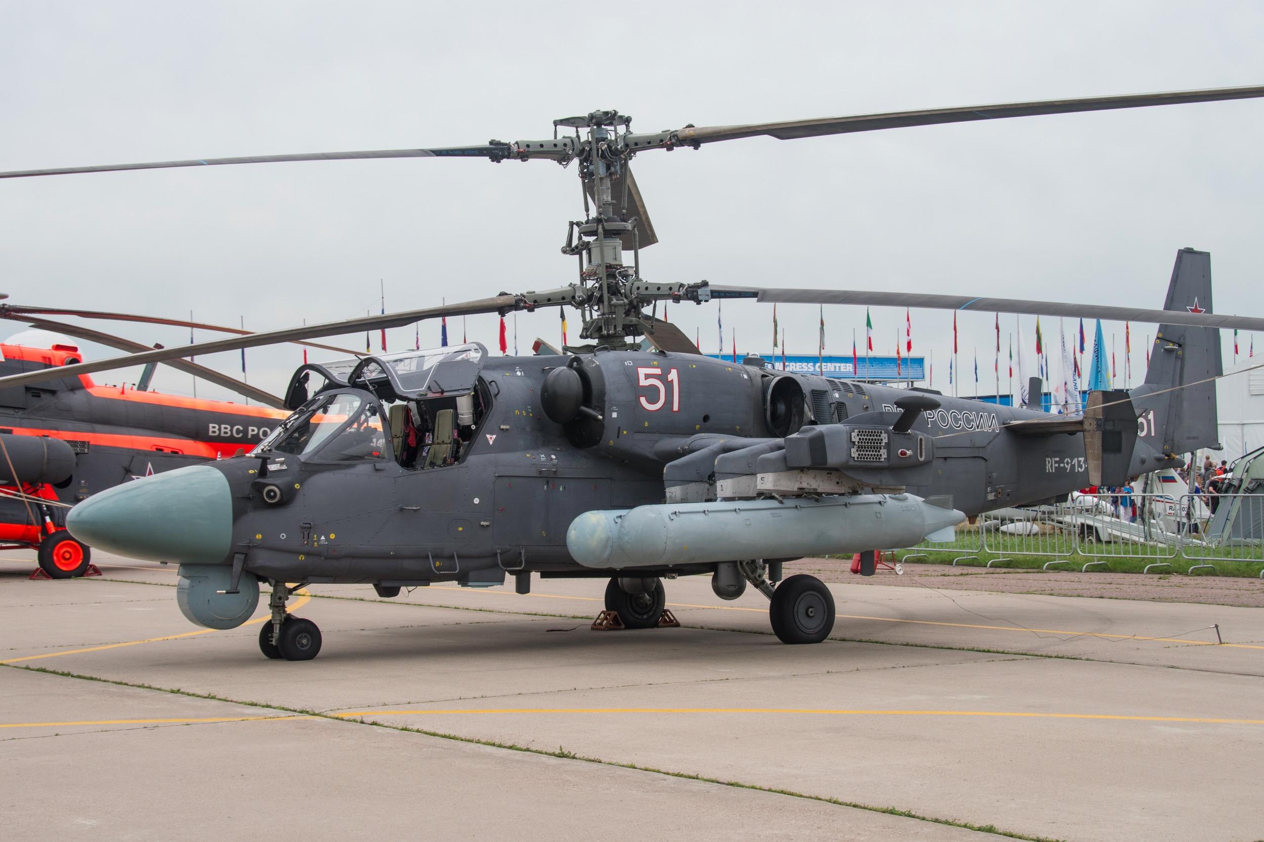 """kamov Ka-52 Alligator """"Hokum B"""", 51 blanc"""