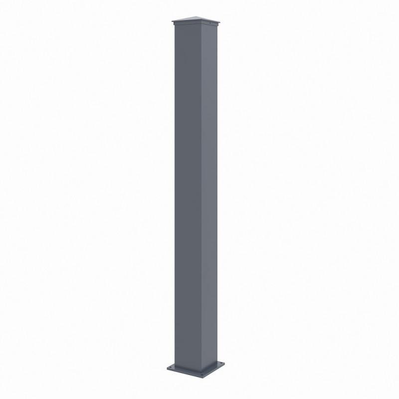 poteau en aluminium portails et portillons x metal h 167cm
