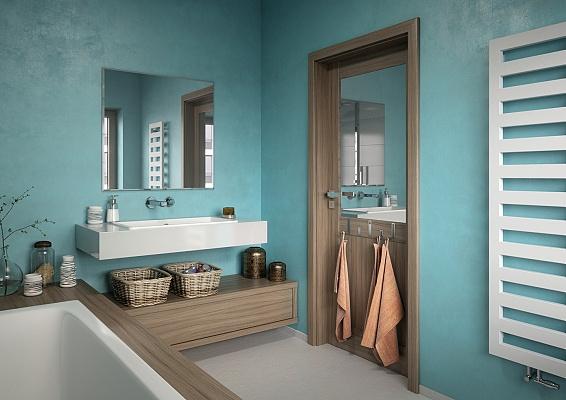 Správné koupelnové dveře vyřeší deficit prostoru i vlhkost.