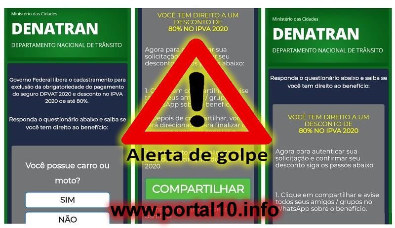 Golpe do IPVA cidadão tenta roubar dados nas redes sociais