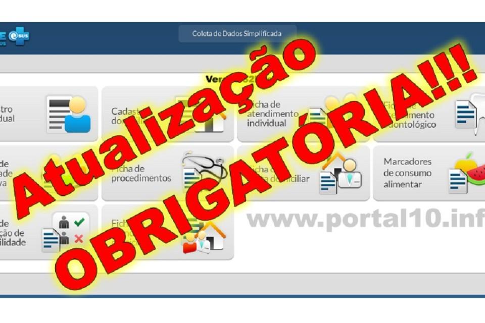 Atualização do e-SUS é OBRIGATÓRIA para todos os municípios: