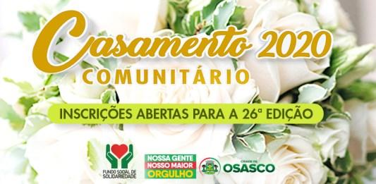 Inscrições abertas para Casamento Comunitário 2020 em Osasco