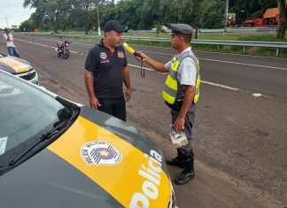 Polícia surpreendem motoristas sob efeito de bebidas alcoólicas