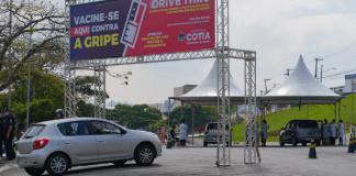 DRIVE-THRU DE VACINAÇÃO CONTRA A GRIPE TERÁ FOCO EM CRIANÇAS, GESTANTES, PUÉRPERAS E ADULTOS (55-59)