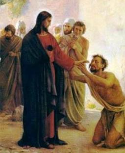 A cura do leproso por Jesus