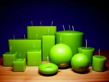 Vela verde para Hechizo de Dinero