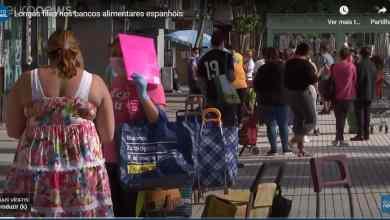 Photo of Longas filas nos bancos alimentares espanhóis