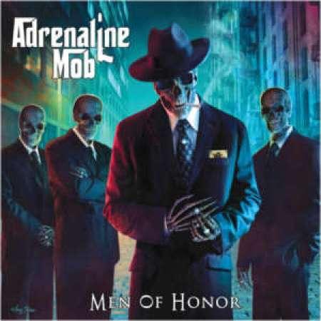 """Capa do segundo álbum do Adrenaline Mob, """"Men of Honor"""""""