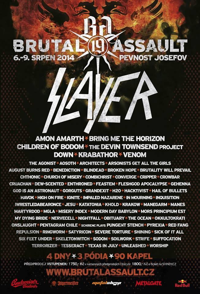 Brutal Assault: Slayer será headliner de festival na República Tcheca