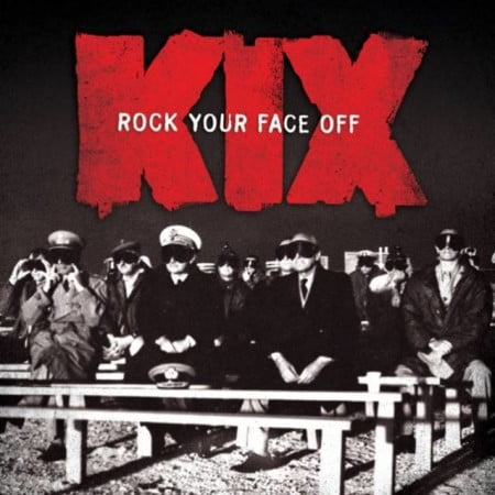 "Capa de ""Rock Your Face Off "", o novo álbum do Kix"