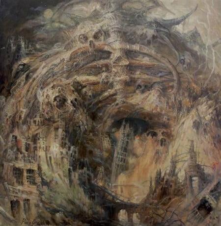 """Capa de """"Captivity & Devourment"""", o novo álbum do Armageddon"""