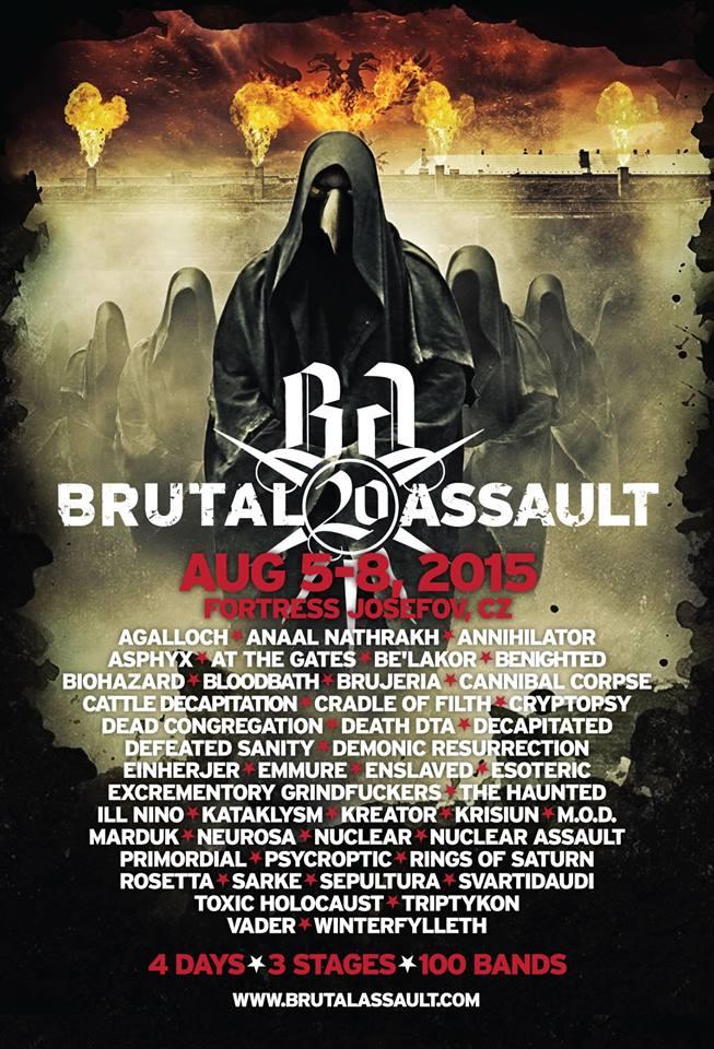 Brutal Assault 2015: mais bandas confirmadas para a 20ª edição