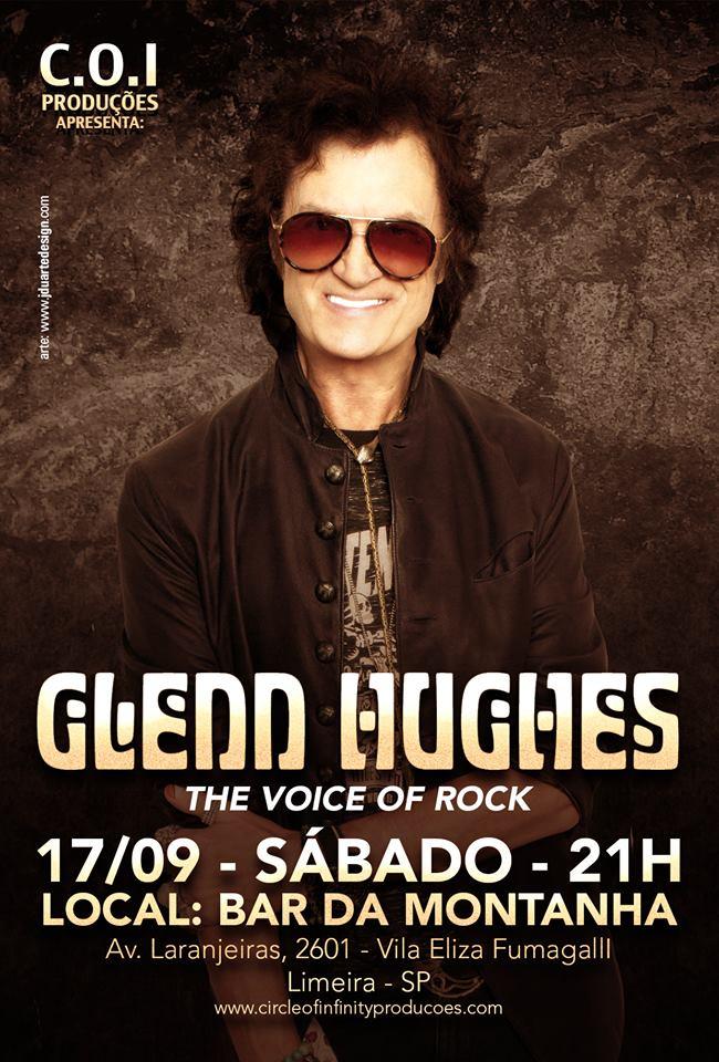 Glenn Hughes: show neste sábado em Limeira