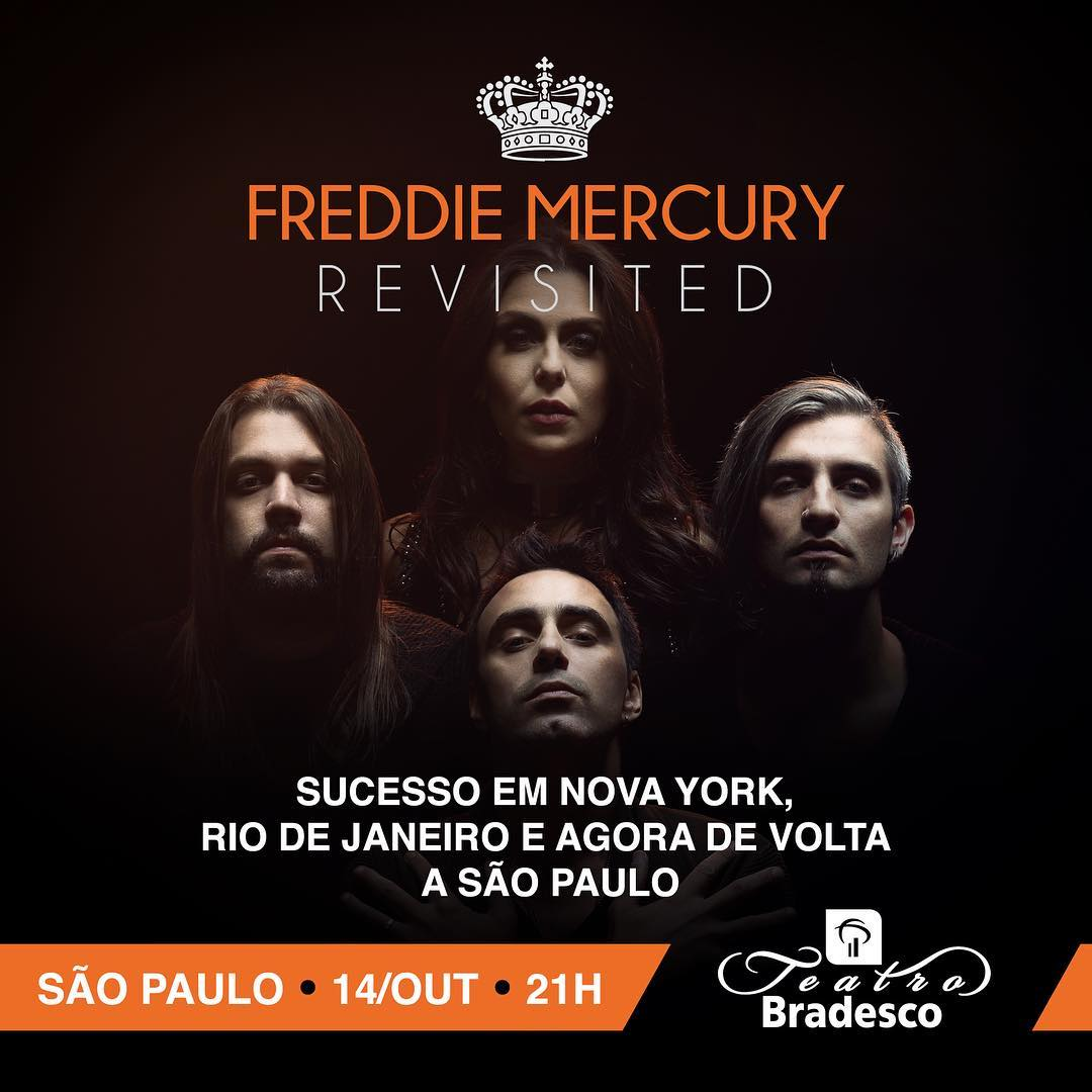 Freddie Mercury Revisited: após grande sucesso em NY e no RJ, espetáculo volta ao Teatro Bradesco em SP neste sábado