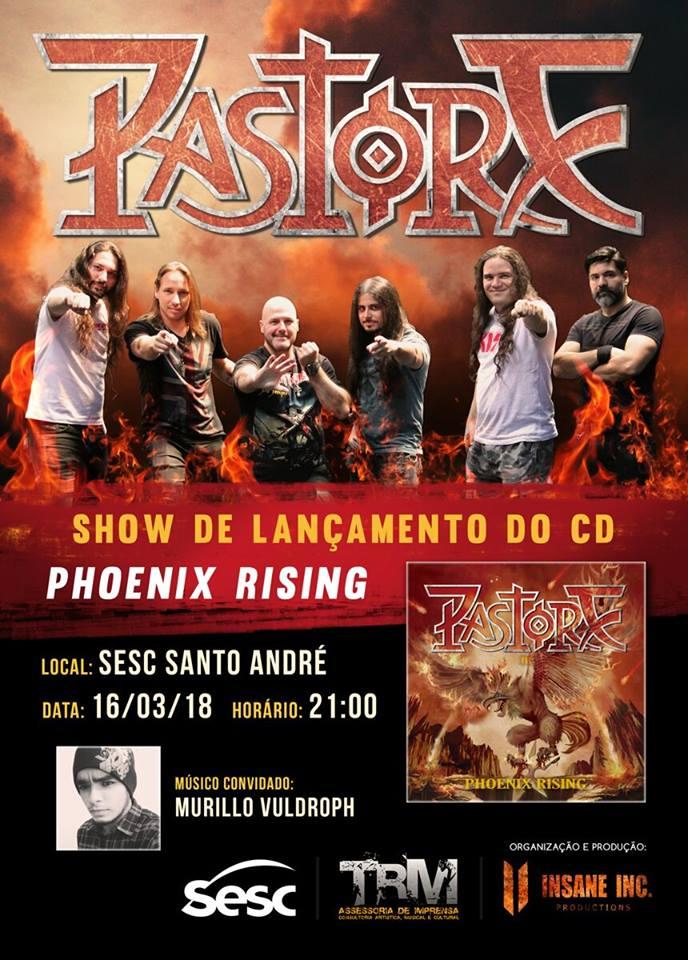 """Pastore confirma show de lançamento de """"Phoenix Rising"""" no Sesc Santo André"""