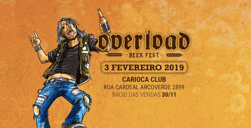 Overload Beer Fest 2019: ainda há ingressos à venda