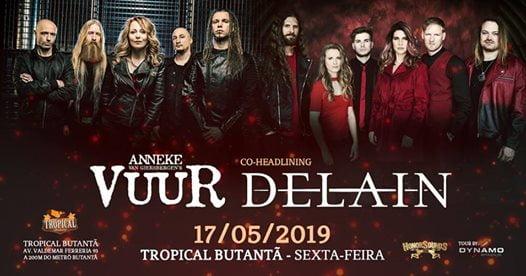 Vuur e Delain confirmam show em São Paulo no mês de Maio