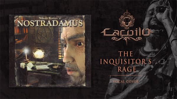 "Leandro Caçoilo divulga vídeo tributo de ""The Inquisitor's Rage"" do projeto Nikolo Kotzev's Nostradamus"