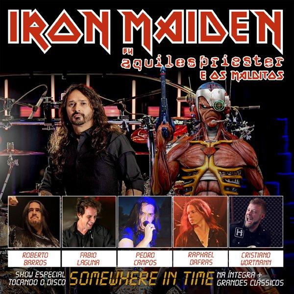 """Aquiles Priester & Os Malditos anunciam turnê apresentando """"Somewhere in Time"""" do Iron Maiden"""