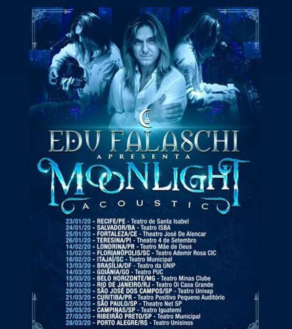 "Edu Falaschi divulga datas da ""Moonlight Celebration Tour"""