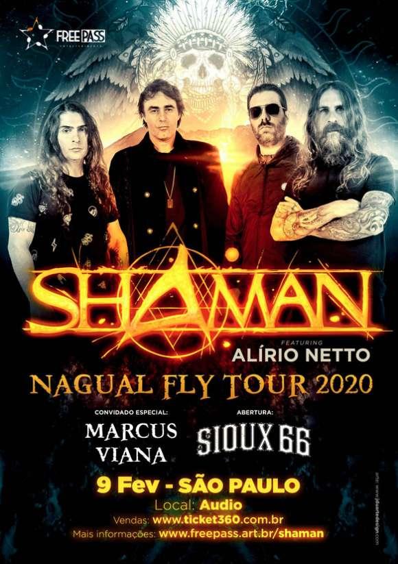 Shaman em São Paulo terá Sioux 66 como banda convidada