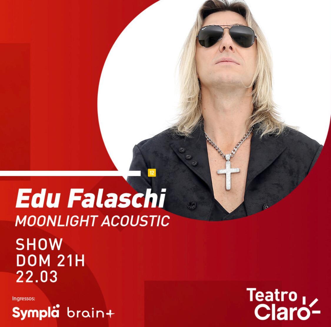 """Edu Falaschi apresenta show acústico """"Moonlight Celebration"""" no Teatro Claro em SP dia 22 de Março"""