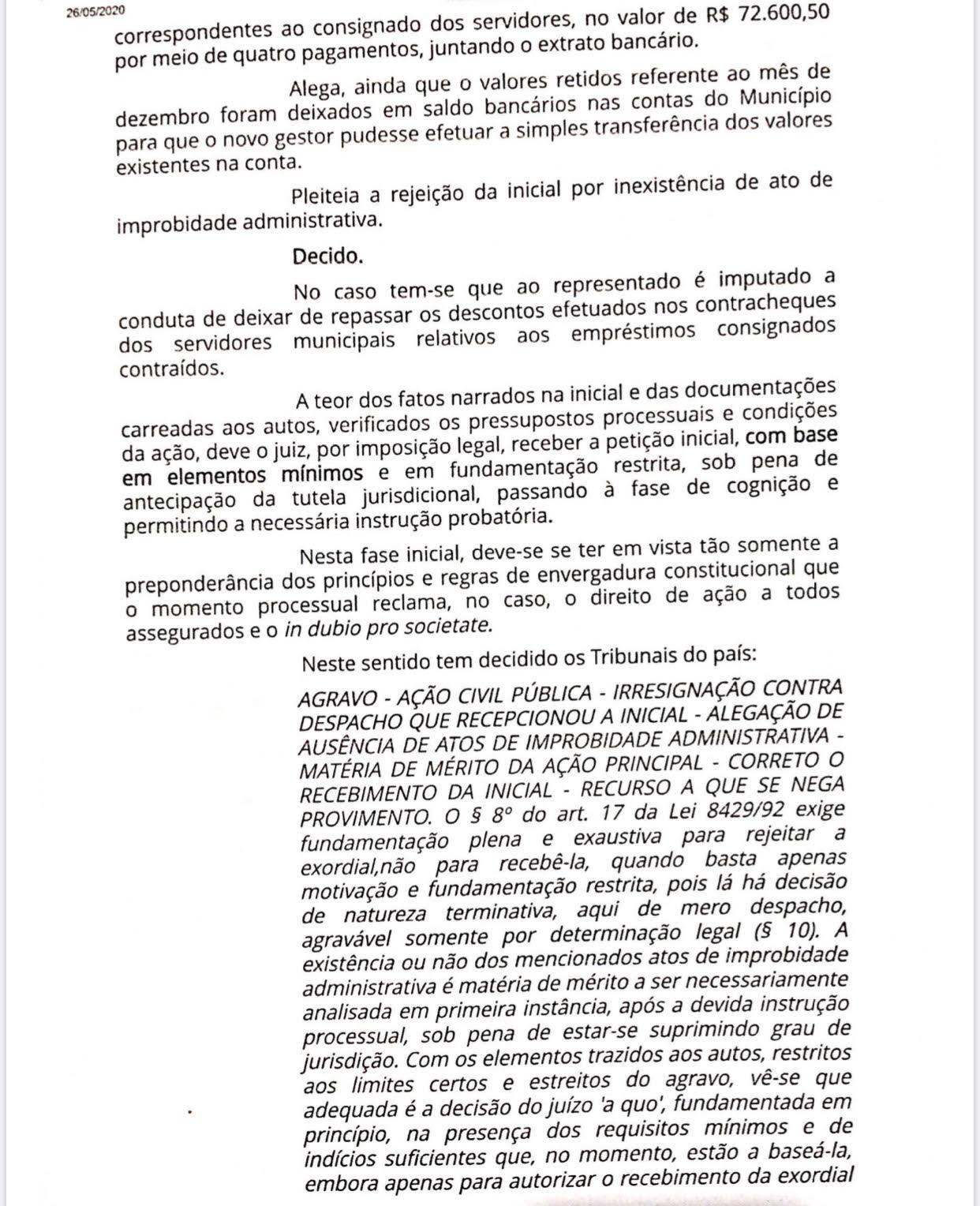 01 - Justiça vê indícios e ex-prefeito de Alhandra Marcelo Rodrigues é investigado em ação de improbidade administrativa