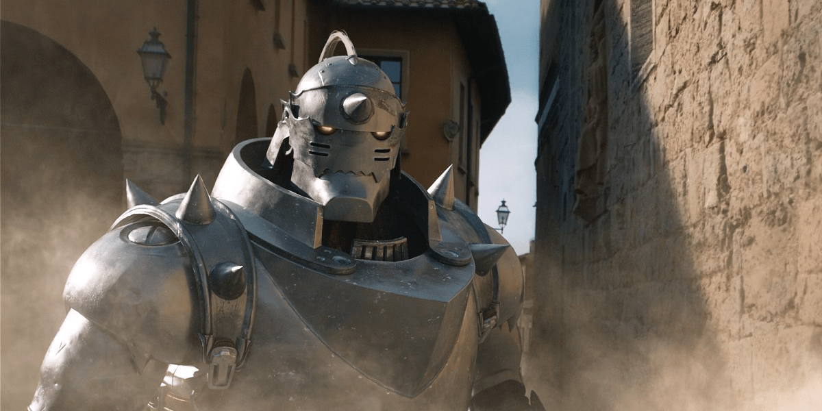 alphonse elric spends much of the story with his soul bonded to a suit of armor