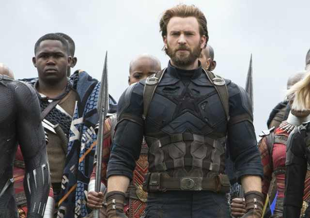 Avengers Infinity War with Black Panther Captain America and Black Widow