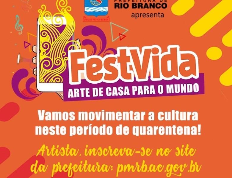 Prefeitura de Rio Branco lança edital para artistas se apresentarem de casa