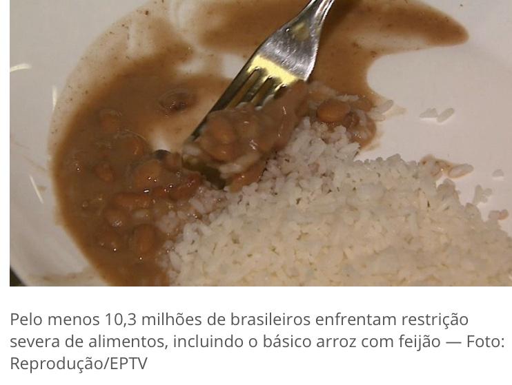 Fome no Brasil: em 5 anos, cresce em 3 milhões o nº de pessoas em situação de insegurança alimentar grave, diz IBGE