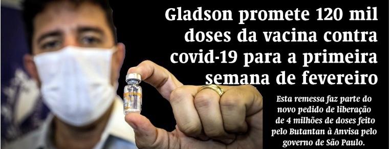 TV Espinhosa – Gladson anuncia mais 120 mil doses de vacina, só não deixou claro de onde o imunizante virá